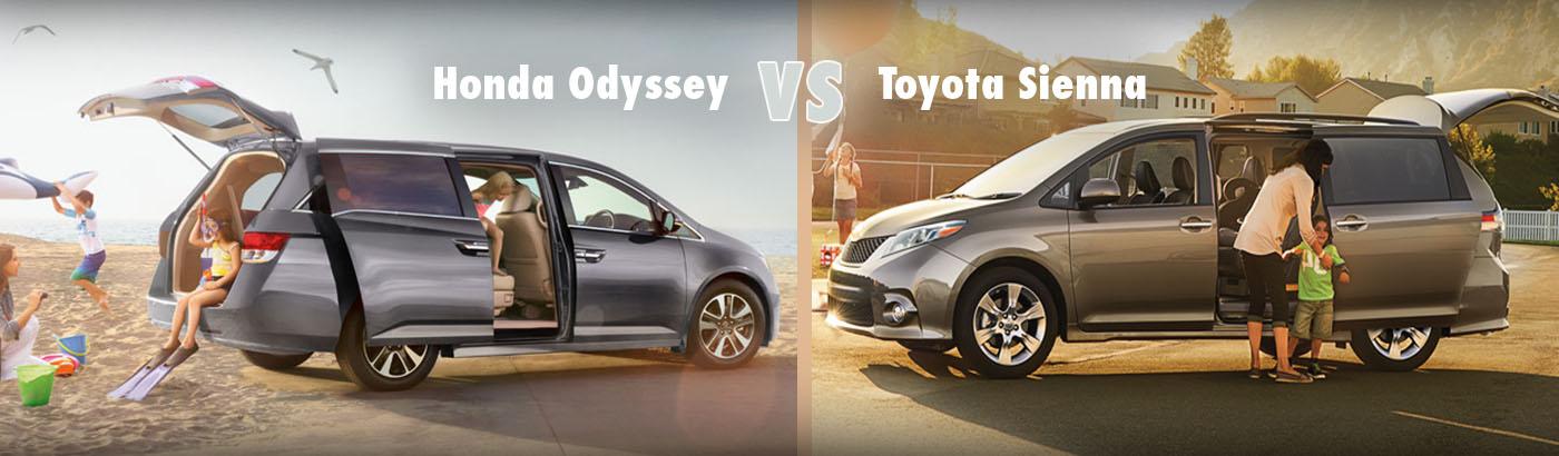 2015 Honda Odyssey VS. Toyota Sienna